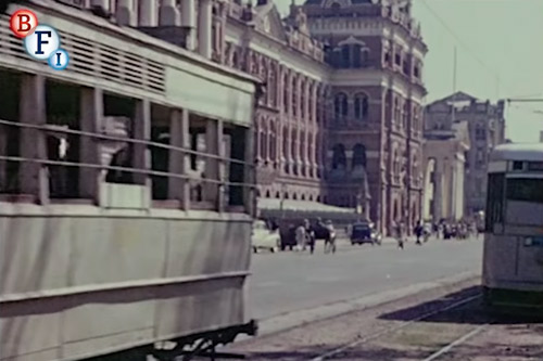 Calcutta Kolkata trams BFI India on Film